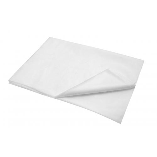 Bílé plátěné prostěradlo 140x240cm
